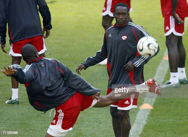 Trinidad and Tobago's forward Dwight Yorke takes part in a training session in Dortmund 09 June 2006 Trinidad Tobago will face Sweden 10 June in...