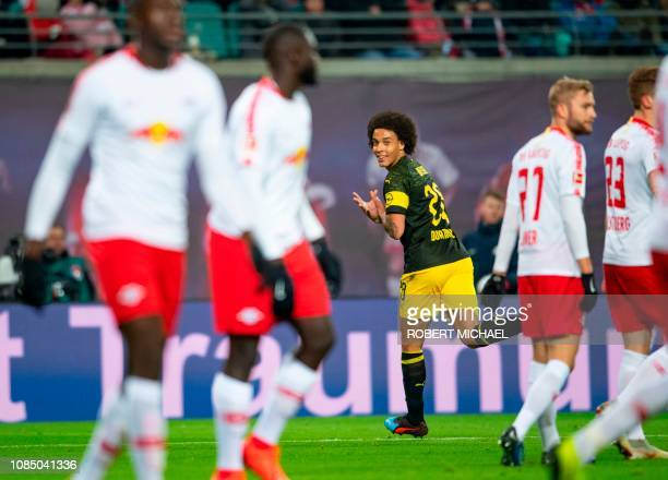 431e64a5094 Dortmund s Belgian midfielder Axel Witsel celebrates after scoring during  the German first division Bundesliga football match