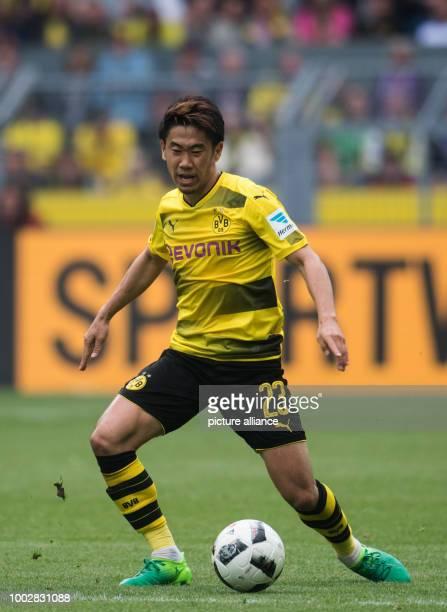 Dortmund's Shinji Kagawa in action during the German Bundesliga soccer match between Borussia Dortmund and Werder Bremen in the Signal Iduna Park in...
