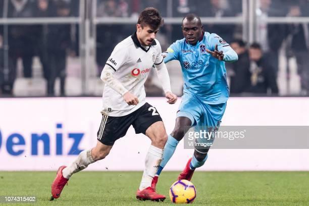 Dorukhan Tokoz of Besiktas JK Zargo Toure of Trabzonspor during the Turkish Spor Toto Super Lig football match between Besiktas JK and Trabzonspor AS...
