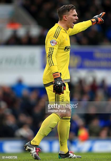 Dorus De Vries of Nottingham Forest during the Sky Bet Championship match between Ipswich Town and Nottingham Forest at Portman Road on March 5 2016...