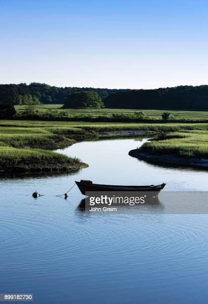 Dory moored in the Herring River