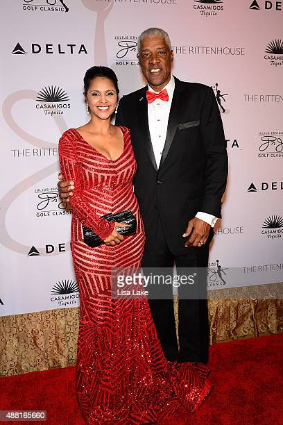 Dorys and Julius Erving attend The Julius Erving Black Tie Ball Event at The Rittenhouse Hotel on September 13 2015 in Philadelphia Pennsylvania