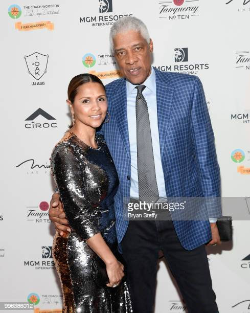 Dorys Erving and her husband Hall of Fame NBA player Julius Dr J Erving attend the 5th Anniversary gala for the Coach Woodson Invitational presented...