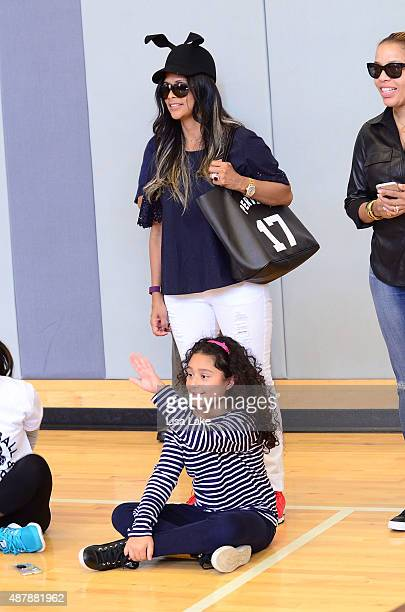 Dorys Erving and Julieda Erving attend The Julius Erving Youth Basketball Experience at the Salvation Army Kroc Center on September 12 2015 in...