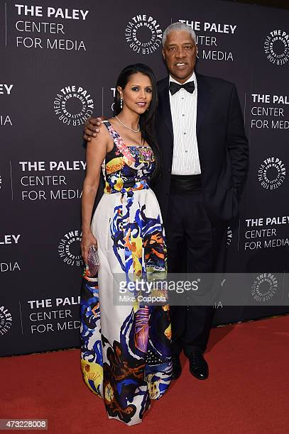 Dorys Madden and former NBA basketball player Julius Dr J Erving attends A Tribute To AfricanAmerican Achievements In Television hosted by The Paley...