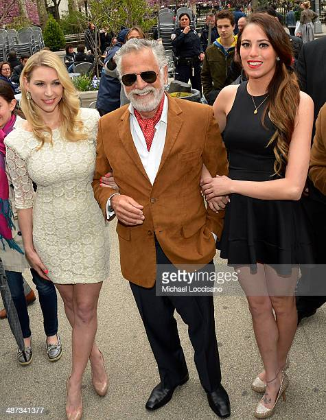 """Dos Equis and """"The Most Interesting Man in the World"""" help New York City celebrate Dos de Mayo with cactus giveawayon April 29 2014 in New York City"""