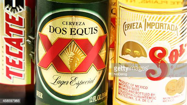 Dos Equis, Sol, Tecate Mexican beers