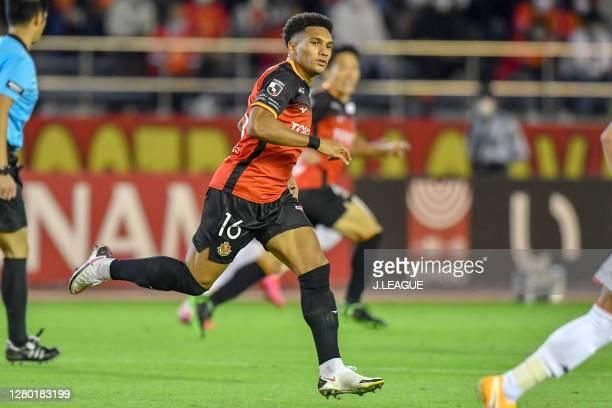 Dos Santos Castro of Nagoya Grampus in action during the J.League Meiji Yasuda J1 match between Nagoya Grampus and Consadole Sapporo at Paloma Mizuho...