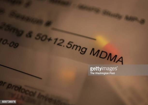 A dose of MDMA in the office of Dr Michael Mithoefer a psychiatrist who has studied the use of MDMA as a treatment for PTSD in Mount Pleasant SC USA...