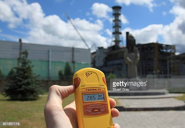 CONTENT] Dosimeter showing radiation levels next to the abandoned reactor 4 at the Chernobyl nuclear power plant Ukraine