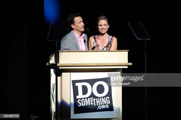 DoSomething founder Andrew Shue and wife Today Show correspondent Amy Robach attend DoSomethingorg's celebration of the 2010 Do Something Award...