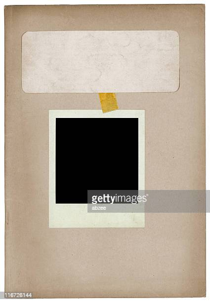 Dossier with blank photo and tape