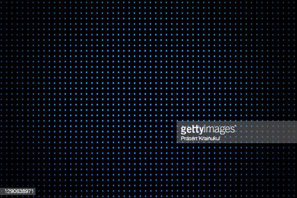 dot rgb background television.blue color dot use for background design - led light stock pictures, royalty-free photos & images