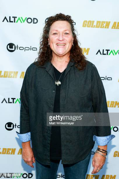 """Dot-Marie Jones attends Utopia Films presents """"Golden Arm"""" premiere at Palm Sophia Rooftop on April 30, 2021 in Culver City, California."""