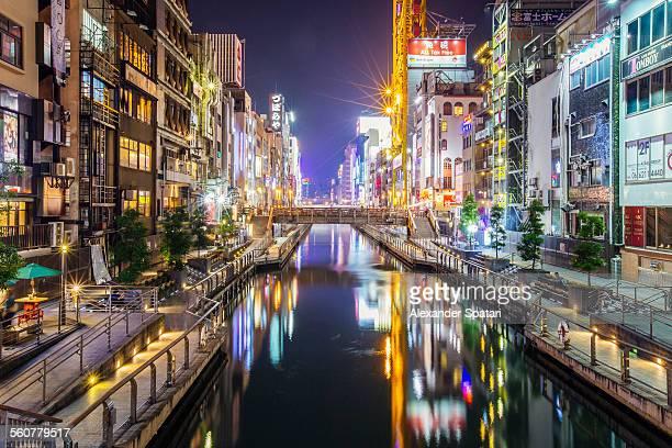 Dotonbori canal at night, Osaka, Japan