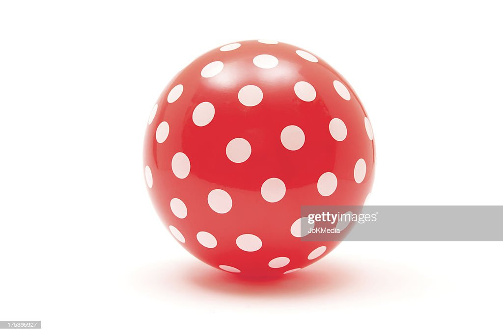 Palla rossa tratteggiata : Foto stock