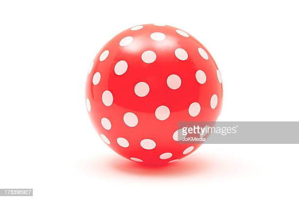 dotted red ball - sports ball stock pictures, royalty-free photos & images