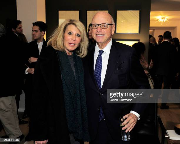 Dottie Herman and Howard Lorber attend 11 Beach Model Residence Unveiling Event at 11 Beach Street on March 7 2017 in New York City