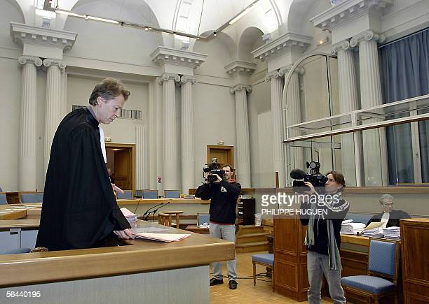 Prosecuting attorney Luc Fremiot waits at the Douai courthouse northern France 16 December 2005 on the last day of the Lionel Dumont trial French...