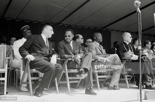 Kamerun [Cameroon] Now An Independent African State Kamerun's Premier Ahmadou Ahidjo right chats with France's delegate to the Independence...