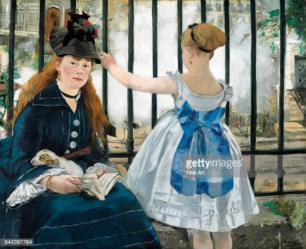 Édouard Manet The Railway oil on canvas 933 x 1115 cm National Gallery of Art Washington DC