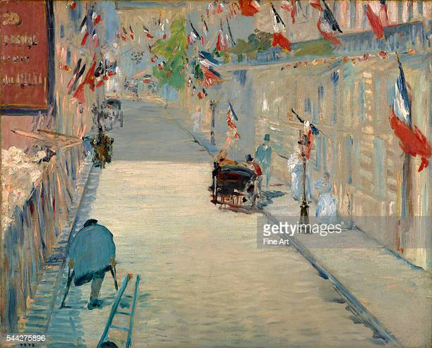 Édouard Manet The Rue Mosnier with Flags oil on canvas 654 x 80 cm 257 x 315 in The J Paul Getty Museum Malibu California
