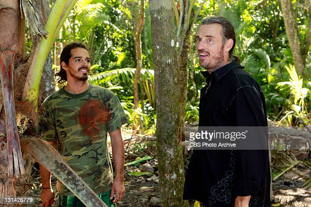 """Double Agent Ozzy Lusth and Benjamin """"Coach"""" Wade during the eighth episode of SURVIVOR SOUTH PACIFIC Wednesday Nov 2 on the CBS Television Network"""
