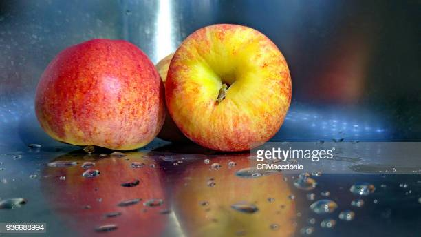 double apple - crmacedonio stock photos and pictures
