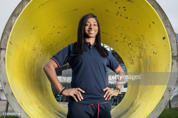 Double athletics and cycling Paralympic champion Kadenna Cox is photographed for the Telegraph on April 2 2019 in Manchester England