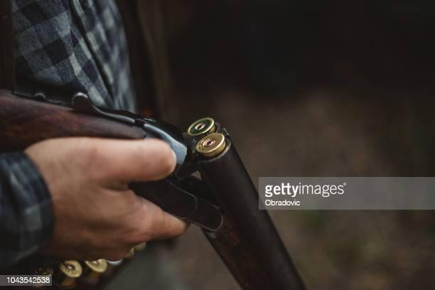 double barrelled shot gun - gun stock pictures, royalty-free photos & images