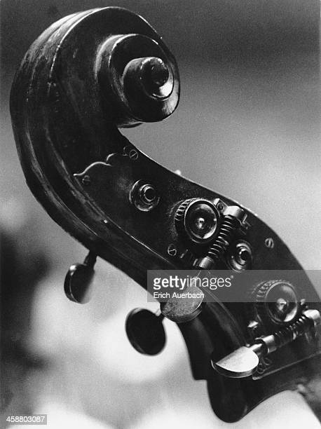 double bass scroll - erich auerbach stock pictures, royalty-free photos & images