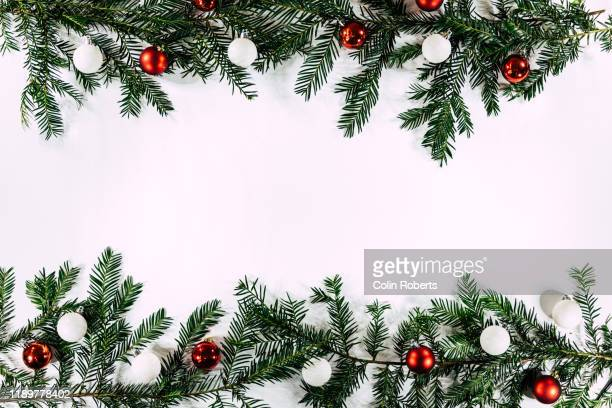 a double christmas background border - backgrounds stock pictures, royalty-free photos & images