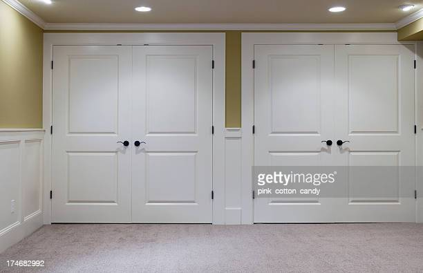 double closets - french doors stock pictures, royalty-free photos & images