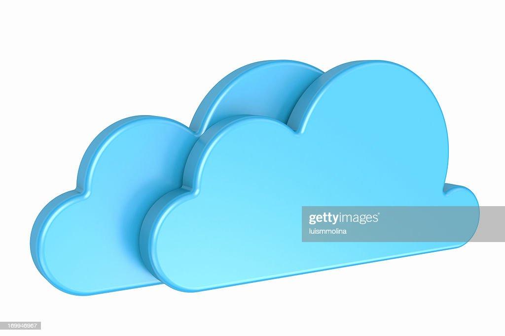 Double Cloud : Stockfoto