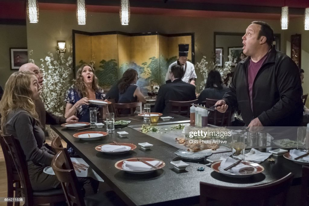 'Double Date' -- After Goody and Didi (Saidah Arrika Ekulona) invite the Motts on a weekend getaway, Kevin and Donna are offended by the friendship demotion and go online to search for new couples to hang out with, on KEVIN CAN WAIT, Monday, March xx (8:00-8:30 PM, ET/PT) on the CBS Television Network. Jackie Sandler returns as Mott's wife, Cindy. Pictured: Clea Decrane, Bas Rutten, Erinn Hayes, Kevin James.