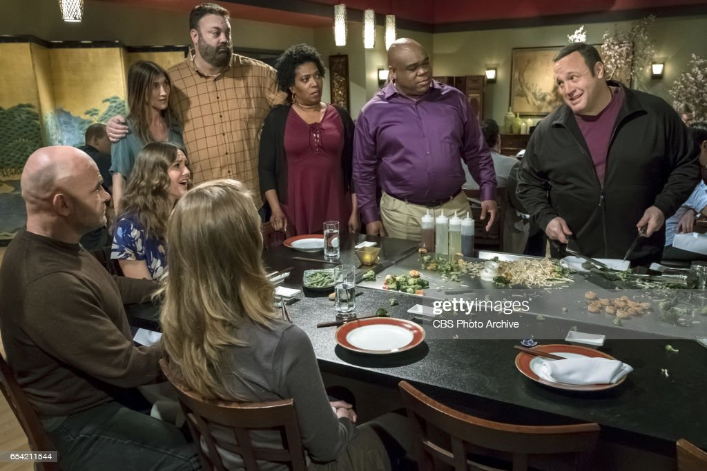 'Double Date' -- After Goody and Didi (Saidah Arrika Ekulona) invite the Motts on a weekend getaway, Kevin and Donna are offended by the friendship demotion and go online to search for new couples to hang out with, on KEVIN CAN WAIT, Monday, March xx (8:00-8:30 PM, ET/PT) on the CBS Television Network. Jackie Sandler returns as Mott's wife, Cindy. Pictured: Clea Decrane, Bas Rutten, Erinn Hayes, Jaxckie Sandler, Chris Roach, Saidah Arrika Ekulona, Leonard Earl Howze, Kevin James.
