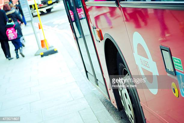 double decker bus, buses and disabled signs. london - editorial stock pictures, royalty-free photos & images