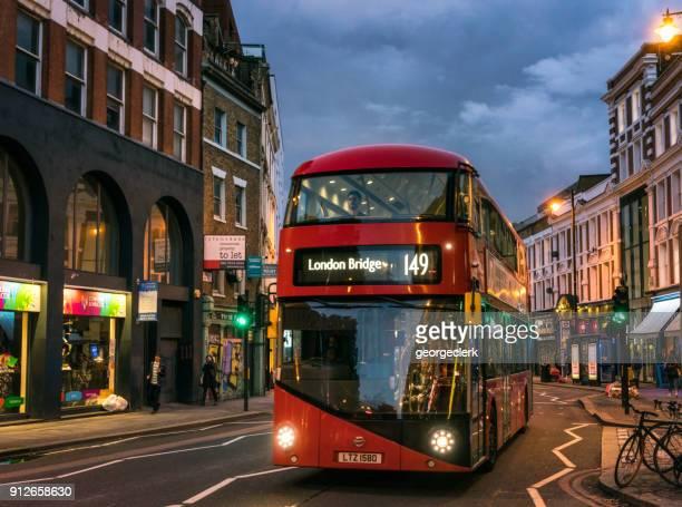 Double decker bus in East London
