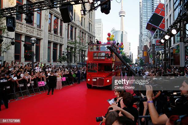 TORONTO ON JUNE 19 A double decker bus on the red carpet at the IHeartRadio MuchMusic Video Awards on June 19 2016