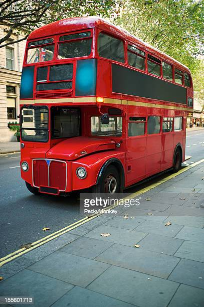 Double Decker Red Routemaster Bus London Street