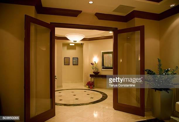 Double doors to lobby area