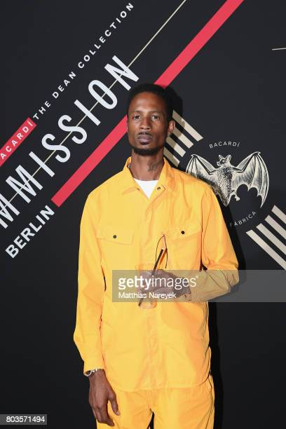 Double E attends Bacardi X The Dean Collection Present No Commission Berlin on June 29 2017 in Berlin Germany