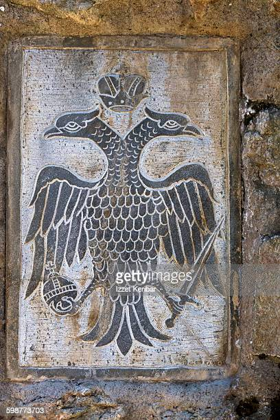 Double eagle synmbol at Grand Meteora Monastery