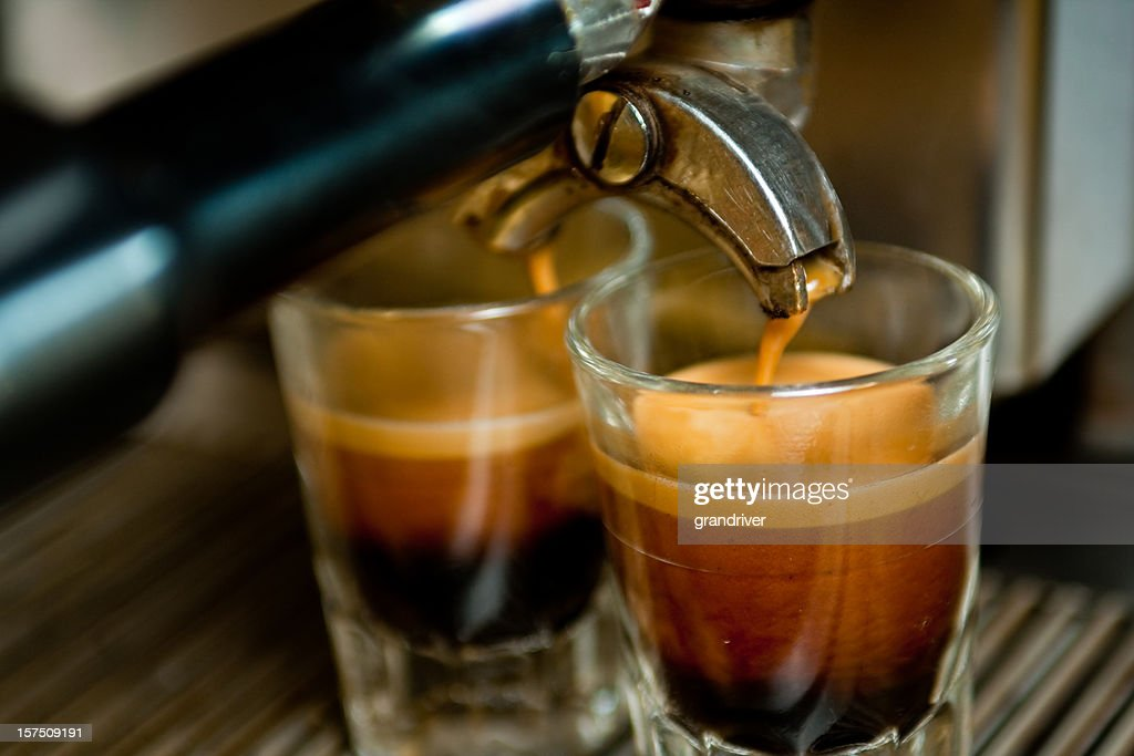 Doppelten Espresso-Aufnahme : Stock-Foto