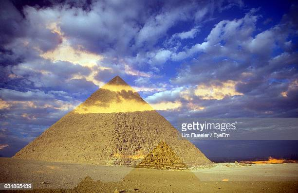 Double Exposure Of Old Pyramids