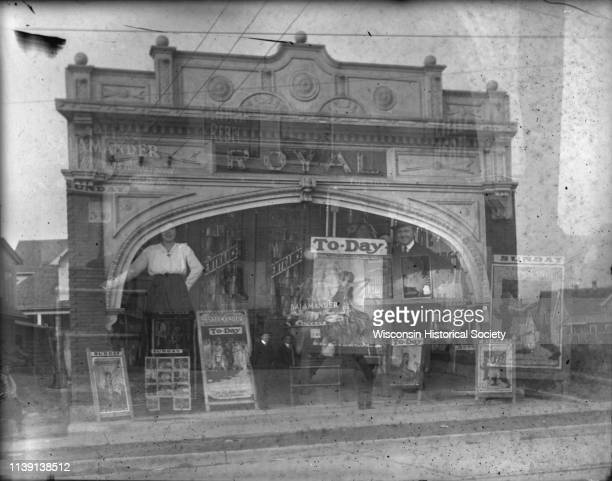 Double exposure of two views of the exterior of the Royal Theater at 407 Atwood Avenue in the SchenkAtwood Neighborhood Madison Wisconsin 1914 The...