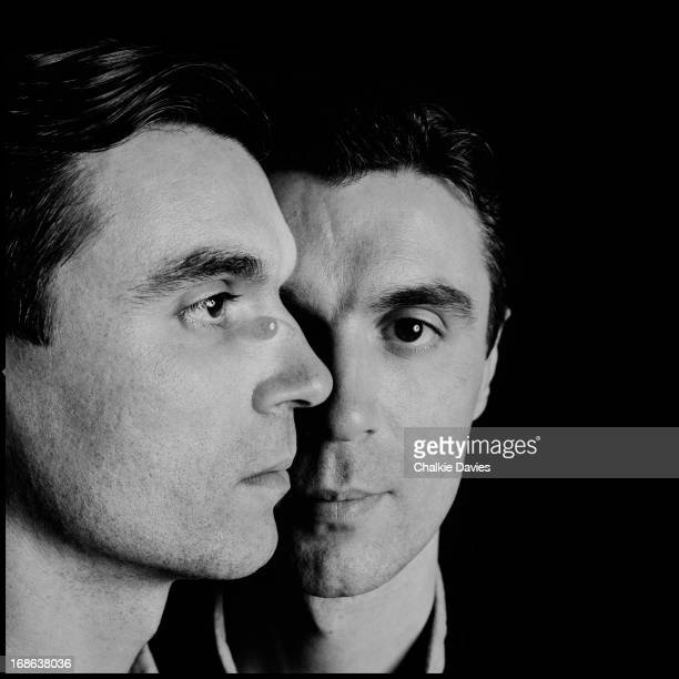 A double exposure portrait of American singersongwriter David Byrne of American new wave group Talking Heads London 1983