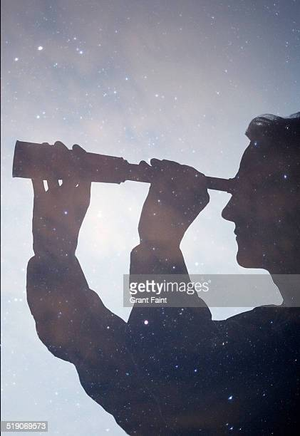 Double exposure: star watching