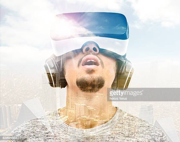 Double exposure vr headset